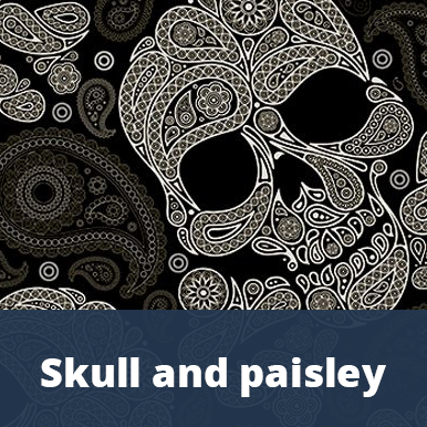 Skull and paisley